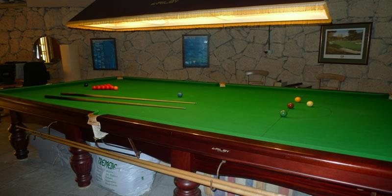 The full size snooker table and gym with tv and nintendo wii