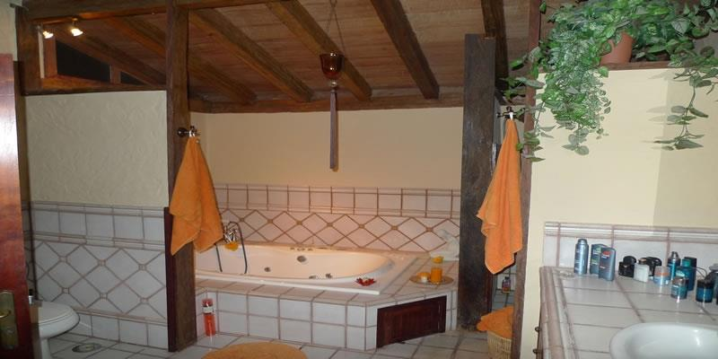 the on suit on the master bedroom with jaccuzi bath