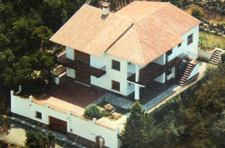 Aireal view of the house