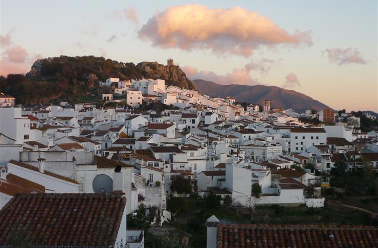 The village from the terrace in the evening