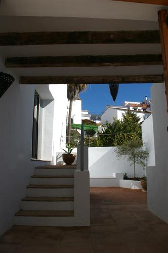 Downstairs courtyard entry from the street