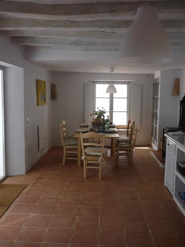 Spacious kitchen and dining room downstairs