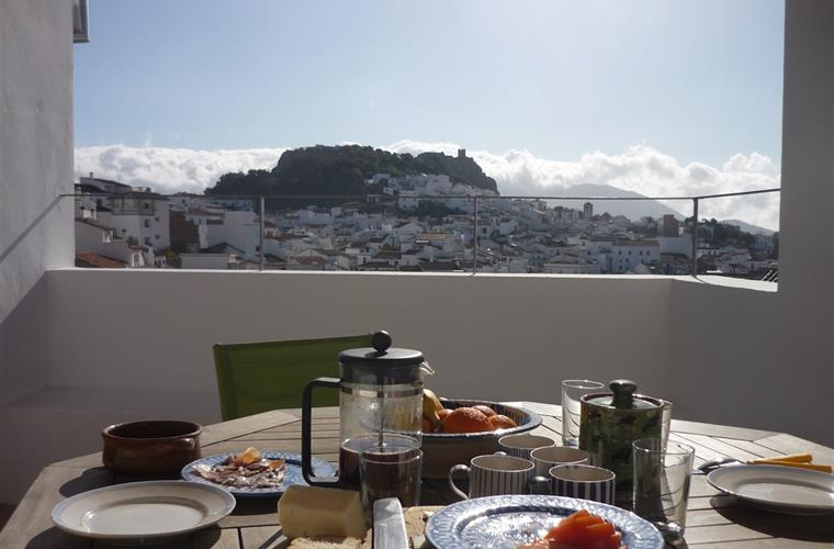 Village views for breakfast on the terrace