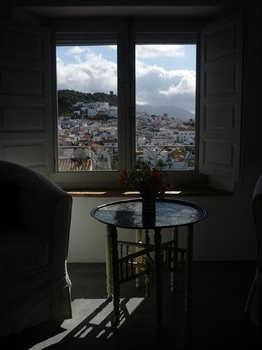 Views of the village from the living room