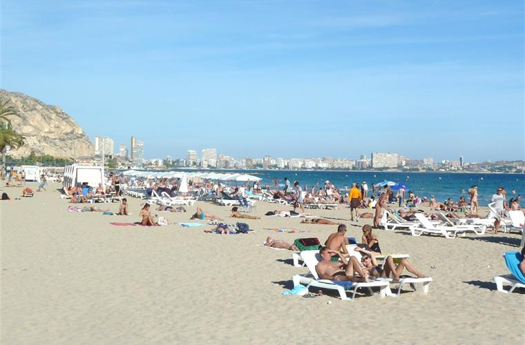 The Beach in nearby Alicante