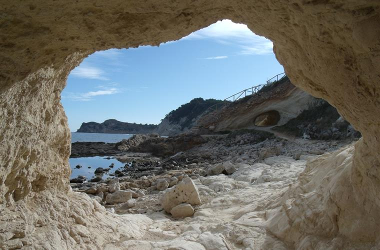 The nearby 'Cala Blanca' or 'White Cove' - 5 minutes walk.