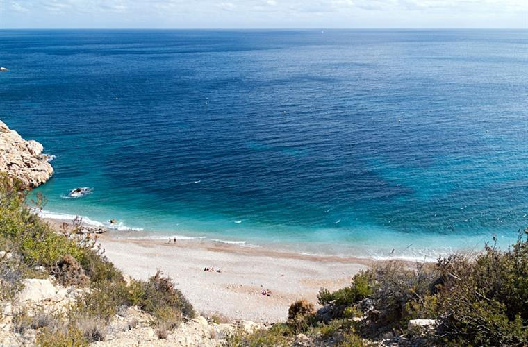 Local beach Playa Moraig few min drive