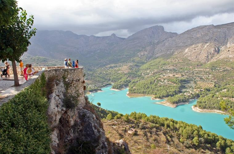 Mountain lake in Guadalest