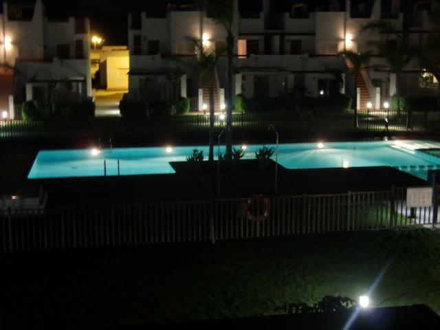 Nightview at pool from terrace