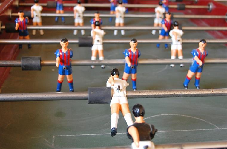 There's table football. FC Barcelona is of course one of the teams