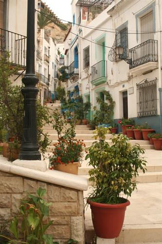 Typical street of our barrio.