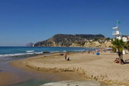 Beautiful sandy beach at nearby Calpe
