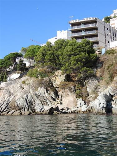 Apartment building from the sea.