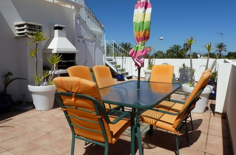 Large Terraces with BBQ, Plants, Dining area, Sea-Views.