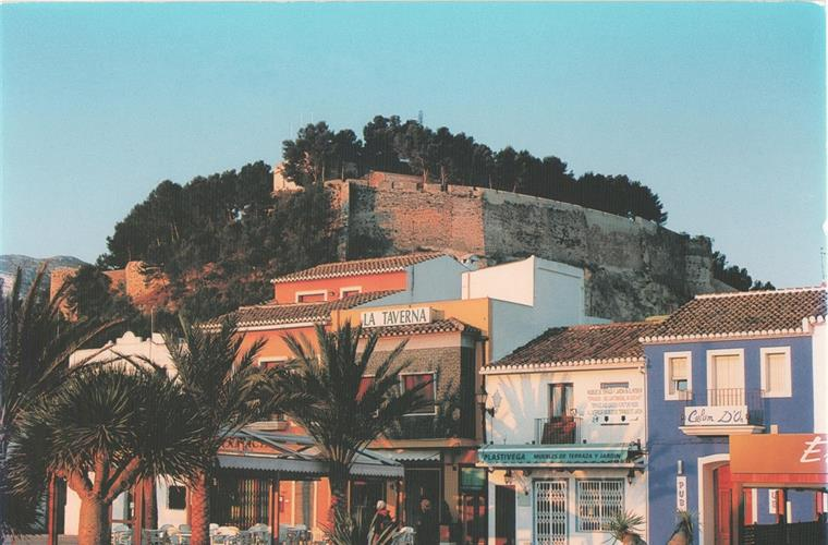 Denia port explanade -500m away -lively restaurants, bars & shops