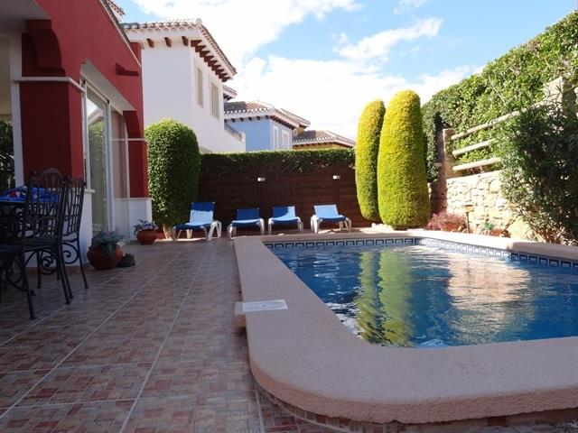 Garden, terrace and pool