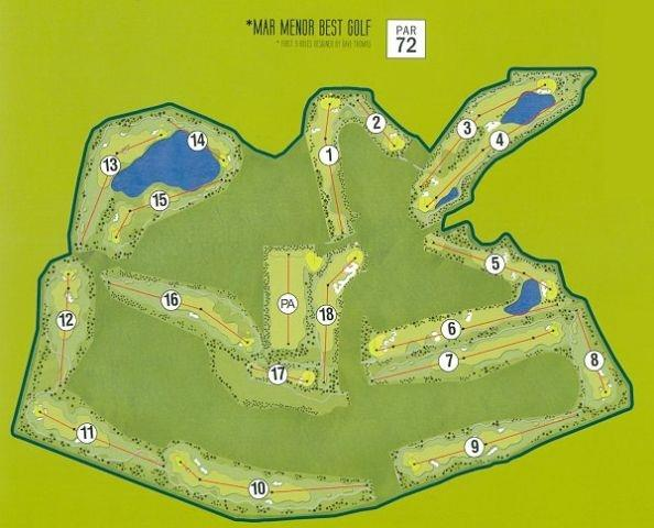 The 18 hole golf course par 72 designed by Jack Nicklaus