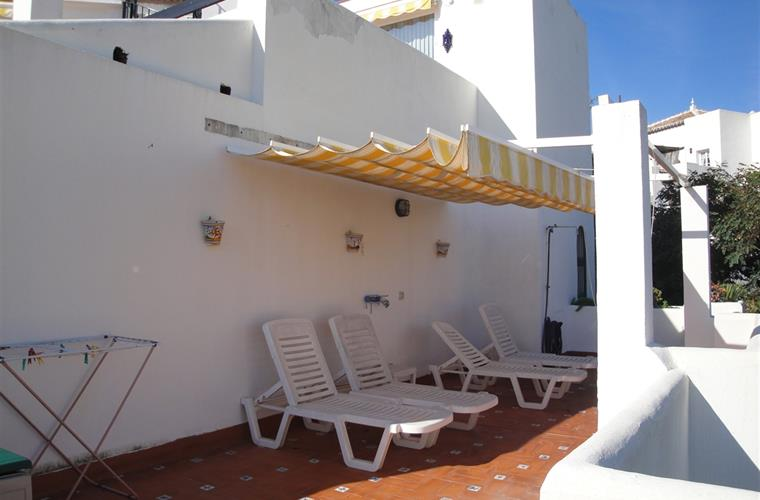 large upstairs terrace is perfect for sunning and snacking.