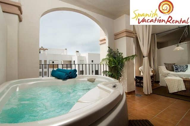 Spa on the terrace of your holiday rental home in Mijas Costa