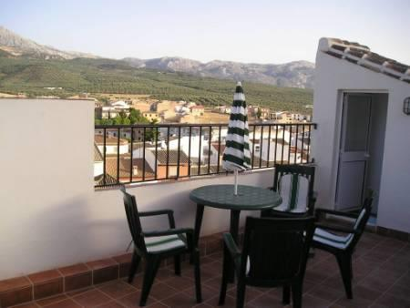 Roof terrace with lovely views over the village.