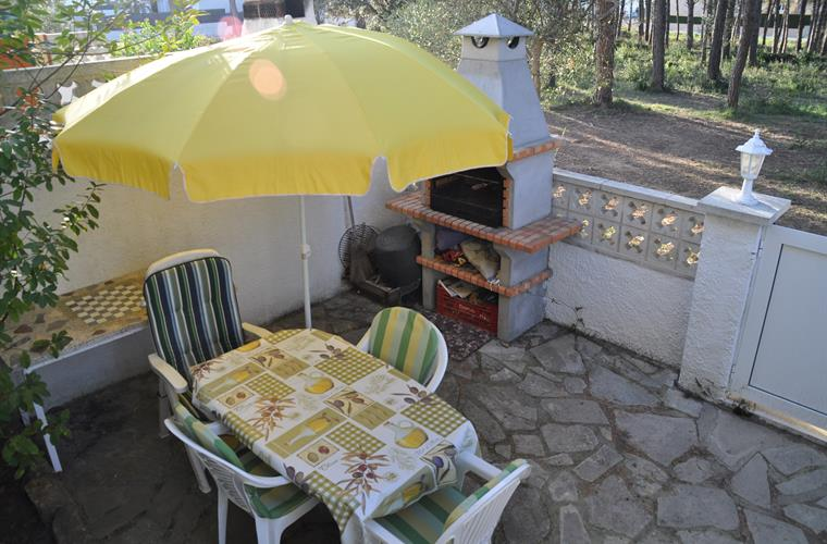 front terrace and barbecue