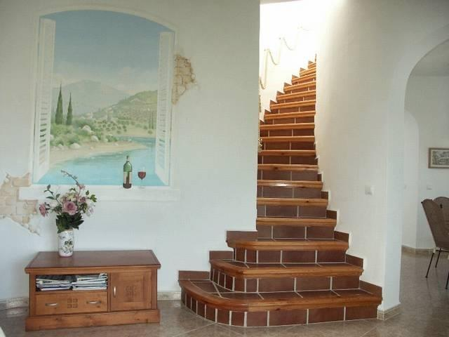Stairs to tower bedroom