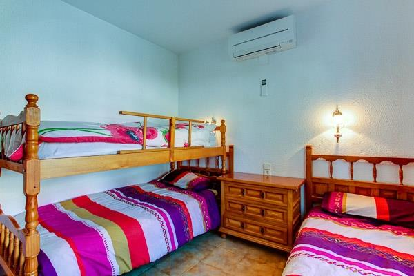 bunk room for three with air con