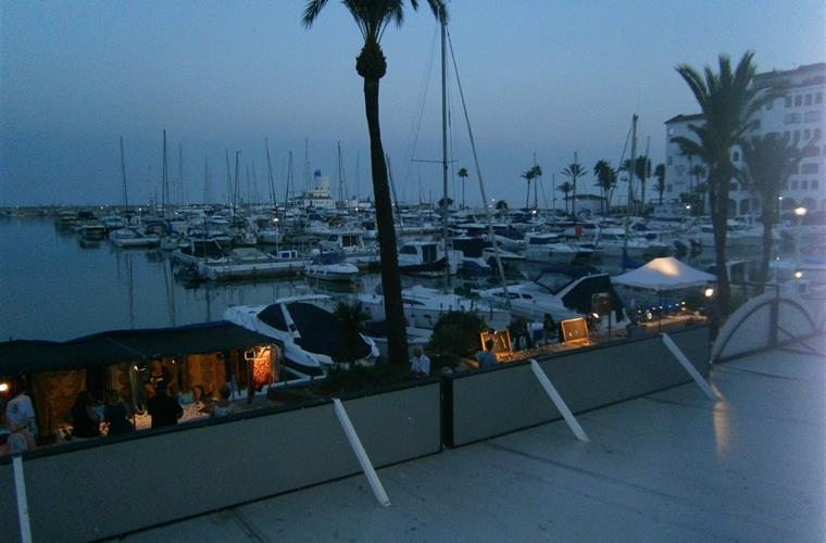 View of Duquesa Marina from Taj Mahal restaurant