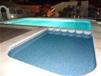 communal pool by night