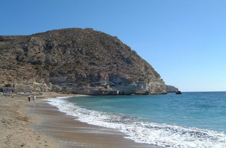 Agua Amarga in October -rather busier in August!