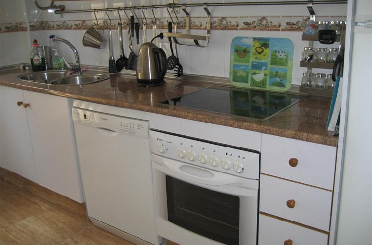 Well equipped and highly functional kitchen.
