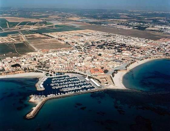 Coast and harbour of Pilar de la Horadada.