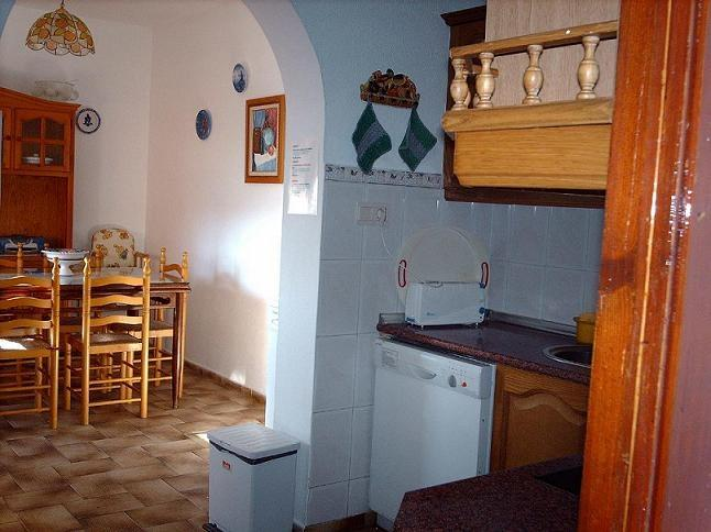view of the kitchen and dining