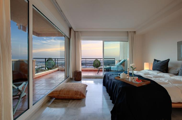 Wake up with a beautiful view in the master bedroom