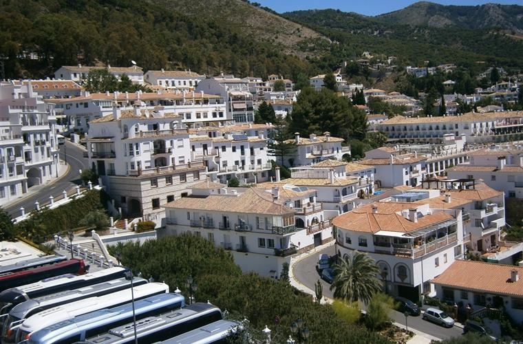 Nearby picturesque mountain village of Mijas