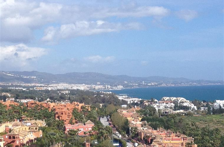 View of Marbella town and the sea from the apartment