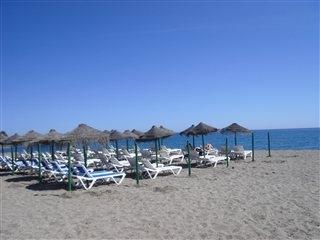 The beach of la Cala de Mijas