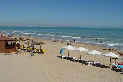 blue flag beach campoamor - beach bar