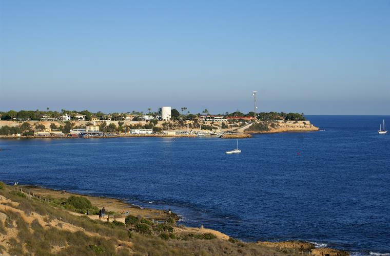 View on Cabo Roig harbour from promenade