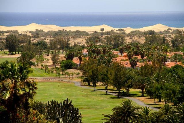 Golfcourse and sanddunes