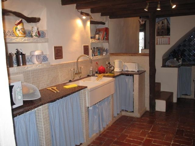 A typical Spanish kitchen, originally we think, the barn for feeding cattle
