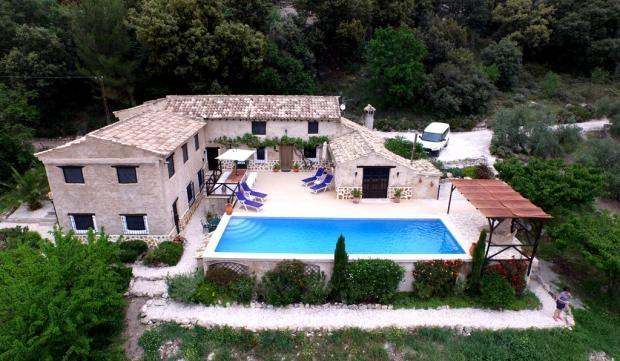 Villa Louisa, nestled into the hillside of our lovely olive farm.