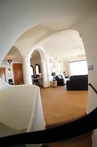 The pueblo style architecture smoothly mixes modern and old