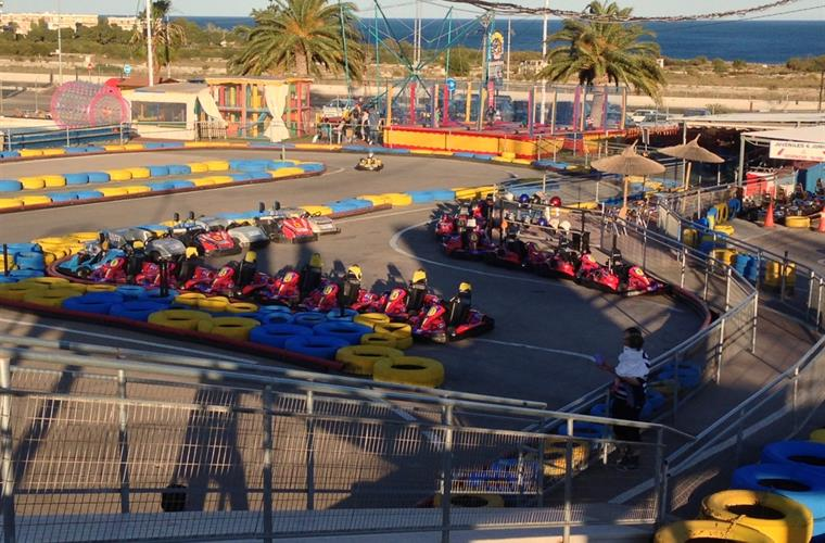 Gocart track over looks the med