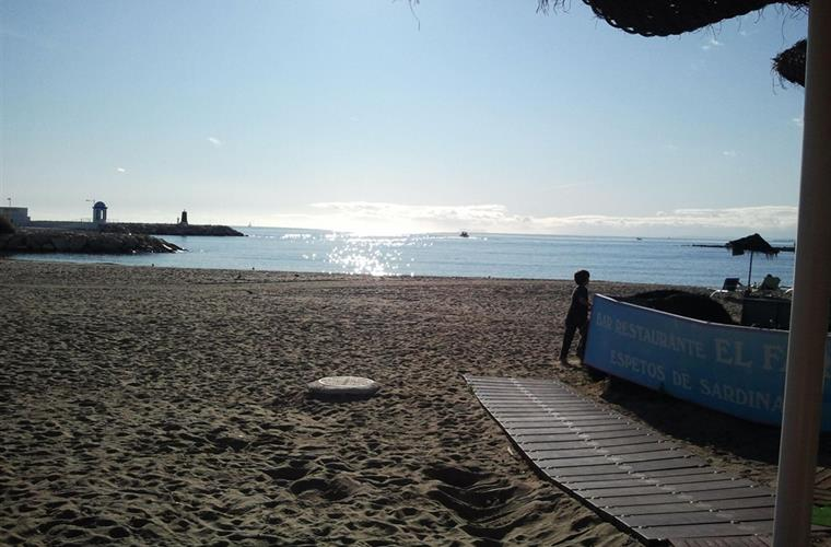 Beach in Marbella (in December :))