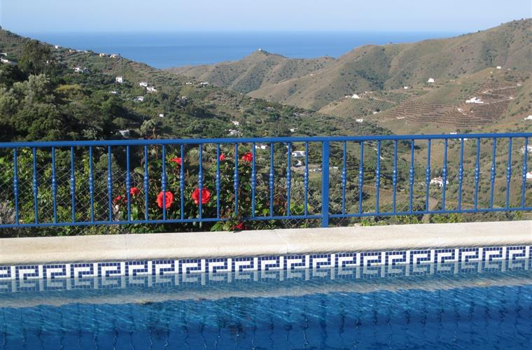 View from the pool to the Mediterranean sea