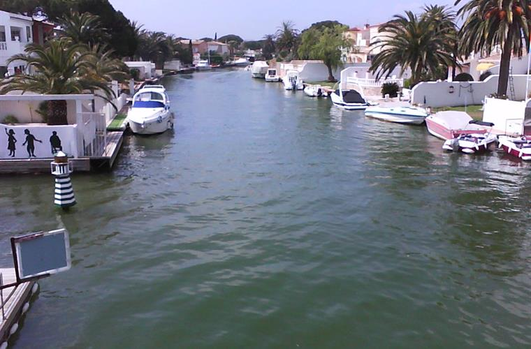 One of many canals in Empuriabrava