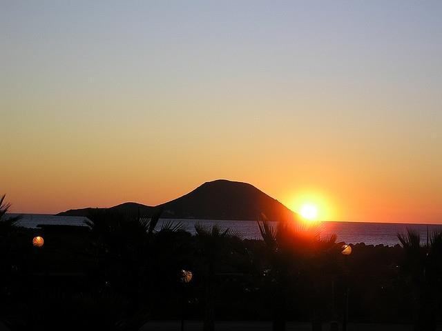 Sun Rise At Playa Principe La Manga