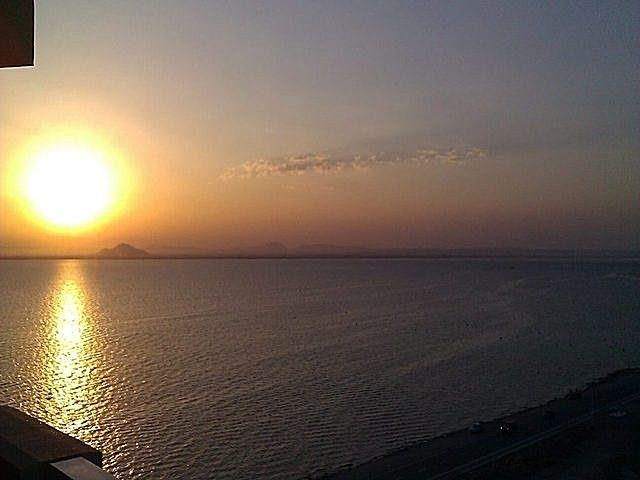 Sunset From Main Balcony Over the Mar Menor
