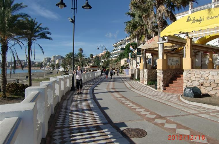 A picture from the beautiful promenade just a few minutes walk from the apartment